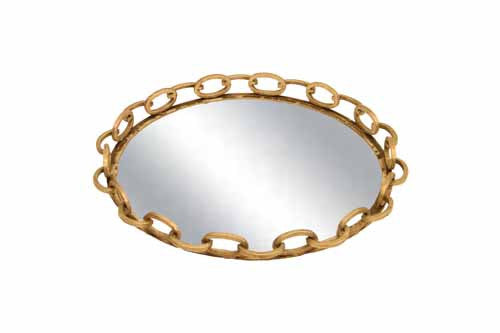 Lydia Round Mirrored Tray