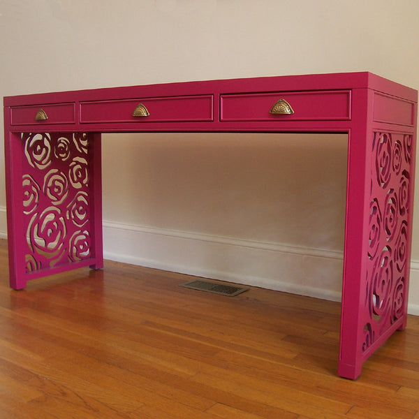 Magenta Rose Writing Desk
