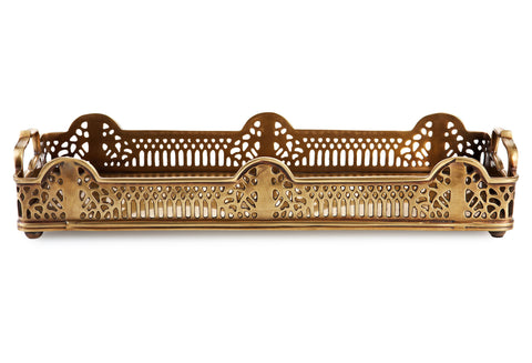 Melania Antique Brass Tray
