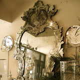 Palace Antiqued  Large Venetian Mirror