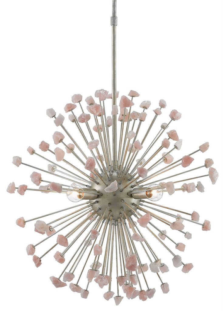Rose Quartz Moon Chandelier