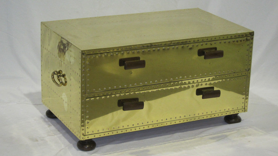 Brass Cocktail Trunk Table
