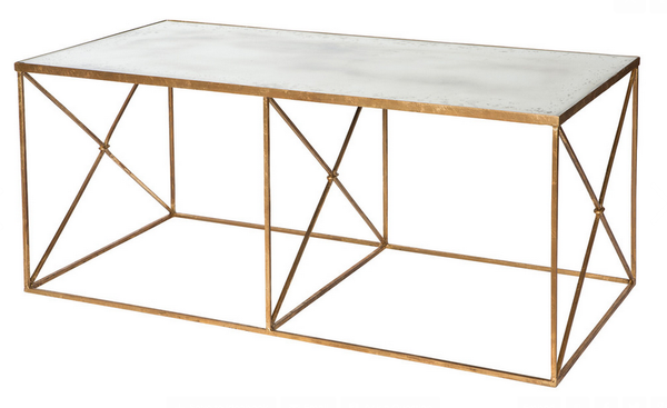 Furano Antiqued Mirror Top Coffee Table