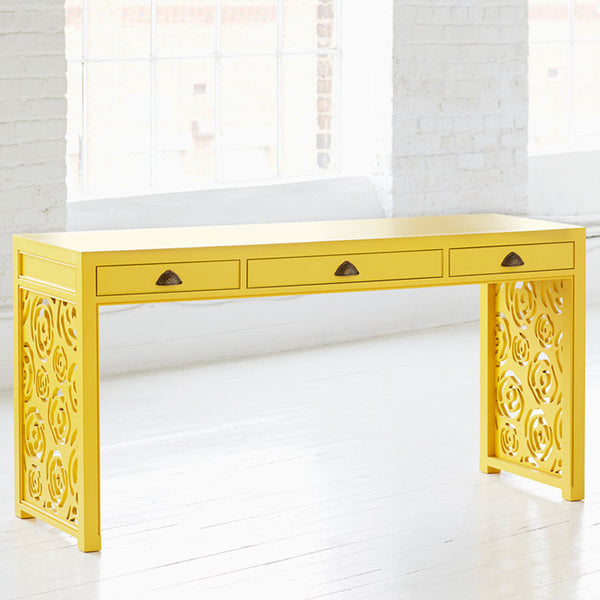 Yellow Rose Writing Desk