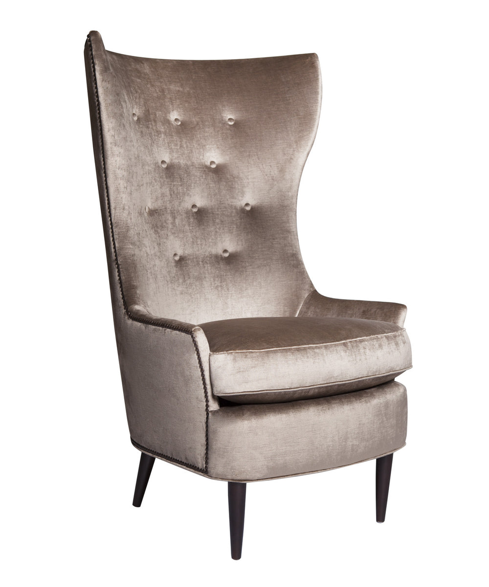 Sophie Velvet Wingback Chair