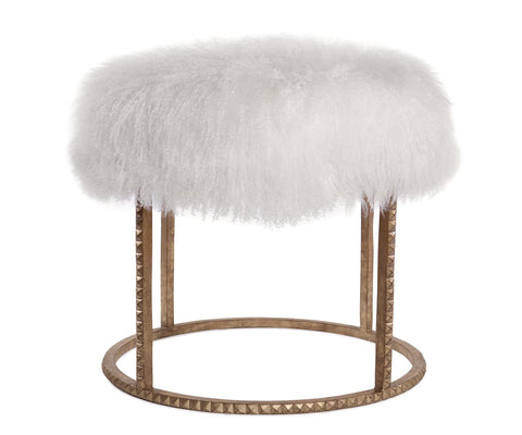 Roe Studded Lamb Stool