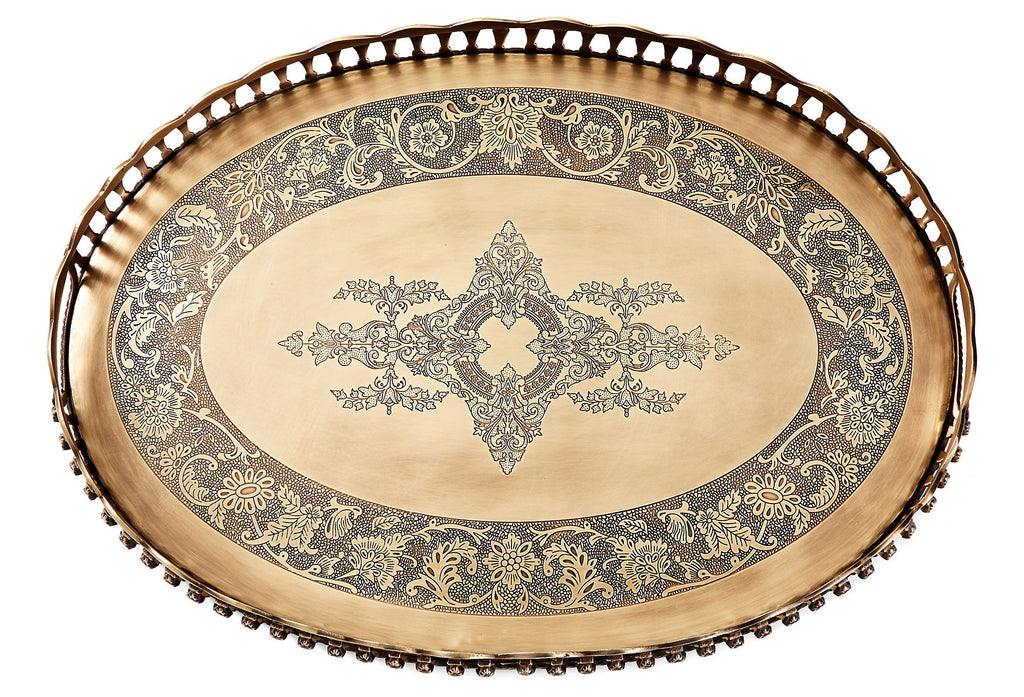 Thea Antique Bronze Tray