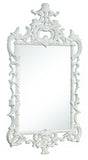 White Lacquer Chippendale Mirror