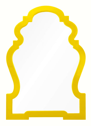 Yellow Chippendale Mirror