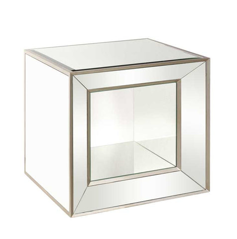 Jolene Mirrored Accent Cube