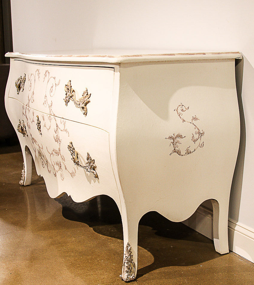 French White Bombé Chest