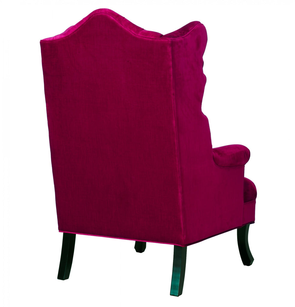 Madison Velvet Wingback Chair - Pink