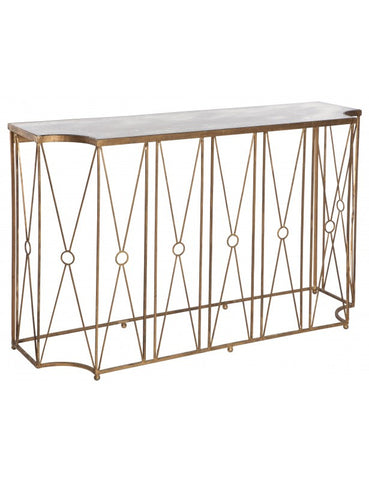 Marlene Gold Antique Console