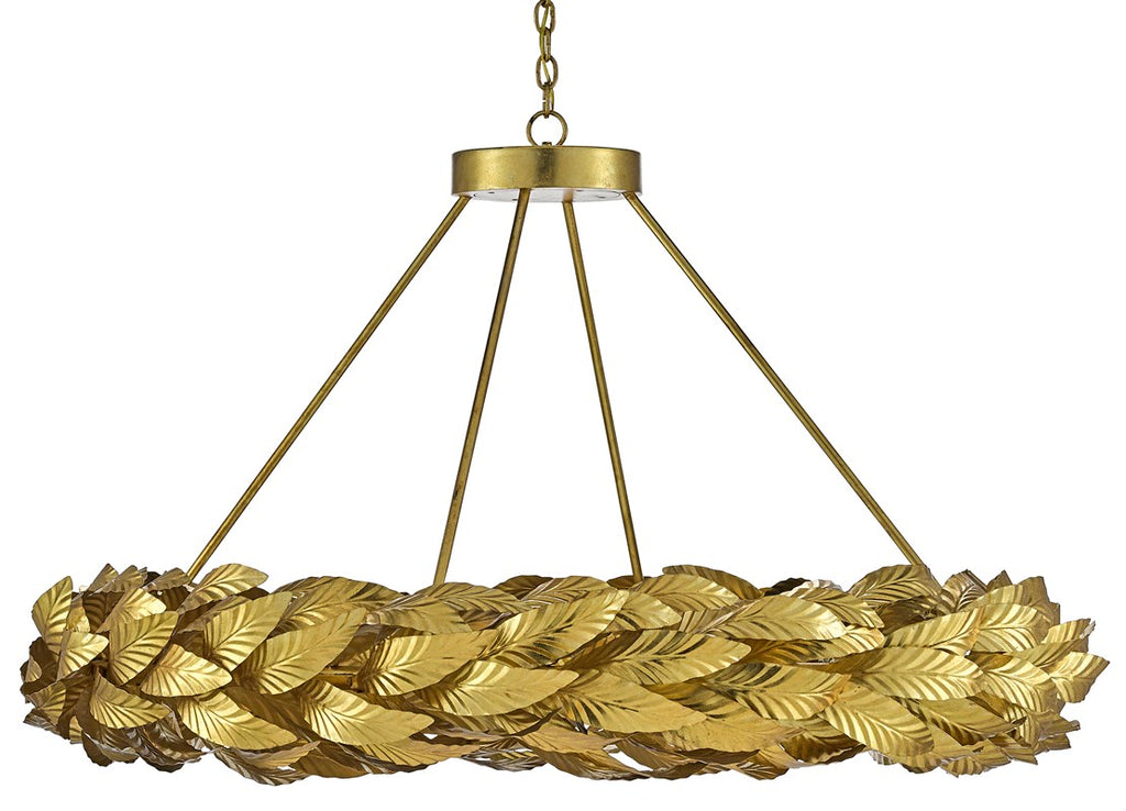 Golden Laurel Crown Chandelier
