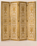 Margaret Antiqued Gold & Ivory Screen