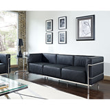 Kat Black Leather Sofa