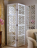 White Lacquer Mirrored Screen