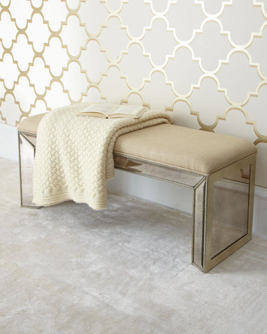 Marissa Mirrored Bench