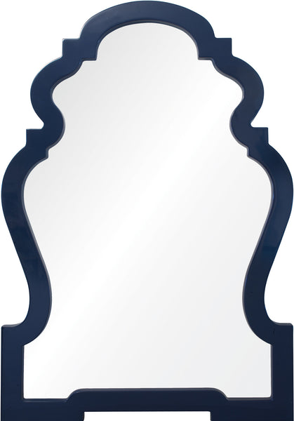 Navy Lacquer Chippendale Mirror