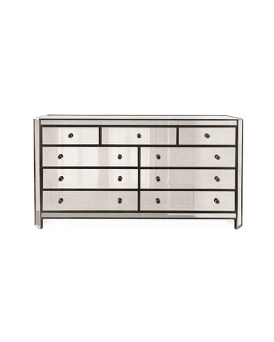 Olivier 9 Drawer Mirrored Chest