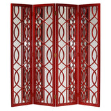 Red Lacquer Mirrored Screen