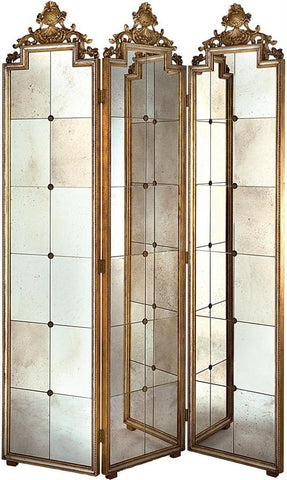 Venetian Mirror Folding Screen