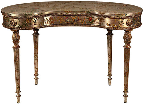 Silver Leaf Kidney Desk