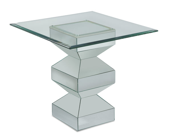 Lira Mirrored End Table