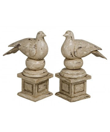Doves on Pedestals