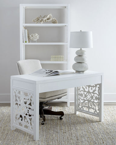 White Brocade Writing Desk