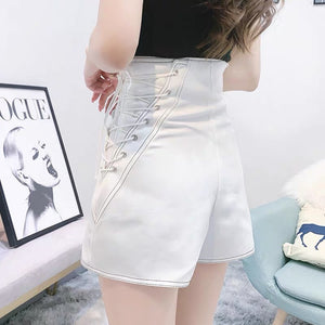 High Waisted Lace Up Shorts - Made For Her Label