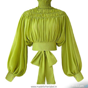 Maria Chiffon Pleated Top - Made For Her Label
