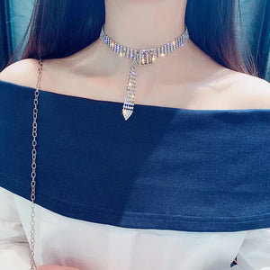 Rhinestone Choker Necklace - Made For Her Label