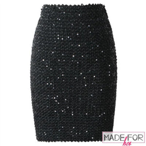 Mahi Sharma In Our Shiny Sequined Bodycon Skirt - Made For Her Label