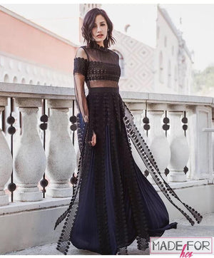 Ankita Sharma In Our Lace Patchwork Maxi Dress - Made For Her Label