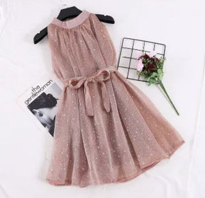 Halter Glittery Organza Dress - Made For Her Label