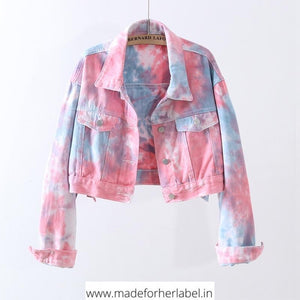 Tie Dye Denim Jacket - Made For Her Label