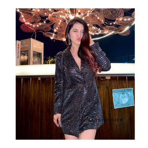 Ishita In Our Sequin Blazer Dress