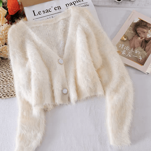 Bettey Fur Cardigan - Made For Her Label
