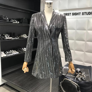 Sequin Blazer Dress - Made For Her Label