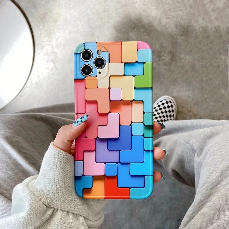 Copy of 3D Colourful Block Iphone Cover - 12 PRO MAX