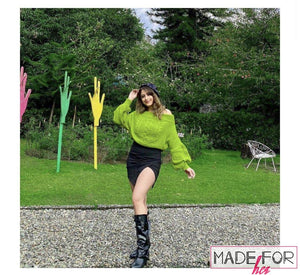 Mehak Sethi In Our Off Shoulder Marina Pullover - Made For Her Label
