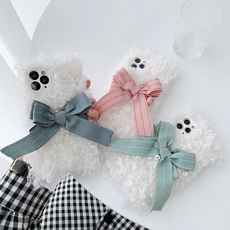 Furry Fluffy Bowknot Iphone Case