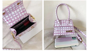 Mini Checkered Crossbody Bag - Made For Her Label