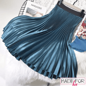 Client Shatabdi In Our Luxury Pleated Skirt - Made For Her Label