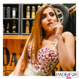 Shivali Rajput In Our Polly Rhinestone Bustier - Made For Her Label