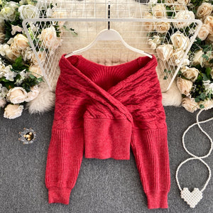 Zoe Off Shoulder Sweater
