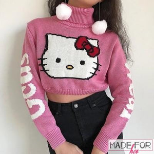 Client Aarzoo In Our Hello Kitty Sweater - Made For Her Label