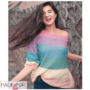 Shaurya Sanadhya In Our  Rainbow Colourful Pullover - Made For Her Label