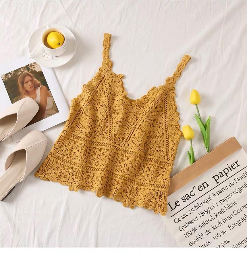 Hollow Out Lace Crochet Top - Made For Her Label